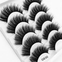 5pair/1box 3d mink false eyelashes hand made 1 box eyelashes full strip ... - $7.03