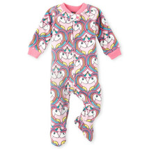 NWT The Childrens Place Unicorn Girls Footed Fleece Blanket Sleeper Pajamas - $9.99