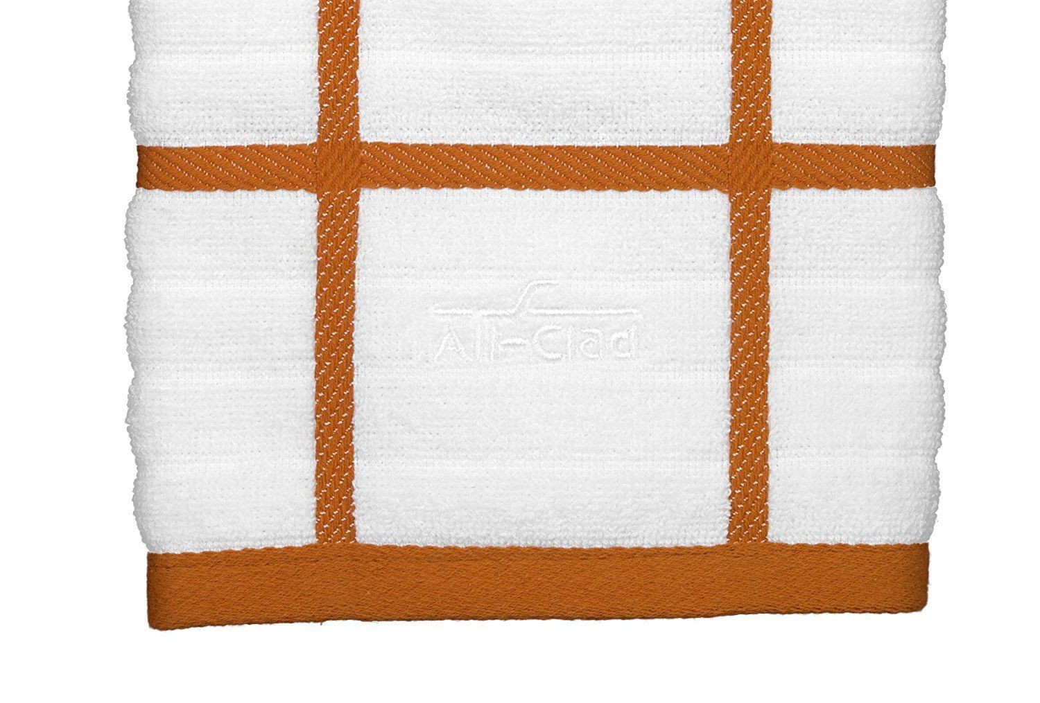 All-Clad Textiles 100-Percent Combed Cotton Kitchen Towel Oversized Tangerine