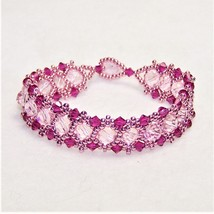 Pink, Pink, and More Pink Crystal Bracelet - $23.87