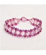 Pink, Pink, and More Pink Crystal Bracelet - $23.87