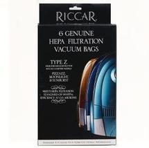 Riccar Type Z HEPA Vaccum Bags for Moonlight, Pizzazz, & Sunburst - 6 Pack - $17.99