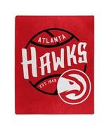 Atlanta Hawks Blanket 50x60 Raschel Blacktop Design Special Order**Free ... - $35.20