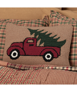 Red farmhouse Truck Evergreen Christmas tree Holiday Decor Bedding Gift - $39.99