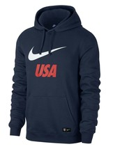 NEW MENS NIKE USA LOGO BLUE FRENCH TERRY FLEECE PULLOVER HOODIE XL - $54.44