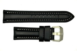 Genuine Luminox F-22 Raptor 9241 24mm Black Leather watch Band W/Silver ... - $99.95