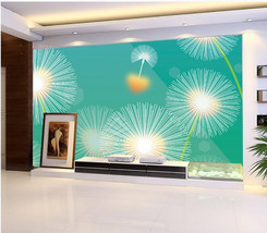 3D Löwenzahn, blumen leuchten Fototapeten Wandbild Fototapete BildTapete Familie - $51.18+