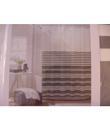 Tommy Hilfiger Canyon Stripe Gray White Shower Curtain - $39.00