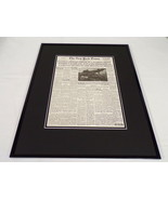 New York Times Mar 24 1945 Framed 16x20 Front Page Poster Patton Crosses... - $74.44