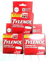 (3)~Sealed Boxes of Tylenol Extra Strength ,Travel Packs~ Exp. 07/2023~ Go Packs image 1