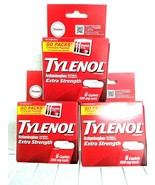 (3)~Sealed Boxes of Tylenol Extra Strength ,Travel Packs~ Exp. 07/2023~ Go Packs - $9.67