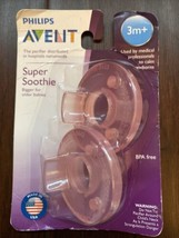 Philips Avent Super Soothie BPA Free Pink Baby Newborn Pacifier 3m+ SCF1... - $8.99