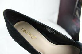 Nine West women's shoes loafer leather upper black medium heel size 9M image 9