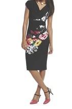 Women's Summer Church Cruise Spring Vacation Dinner Black Floral dress p... - $59.39