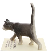 Hagen-Renaker Miniature Ceramic Cat Figurine Gray Cat Walking image 4