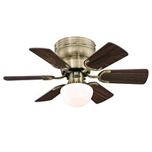 Westinghouse Lighting 7231700 Petite Indoor Ceiling Fan with Light, 30 Inch, Ant - $118.06