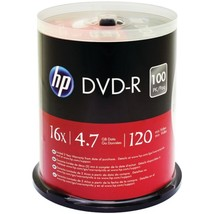 HP DM16100CB 4.7GB DVD-Rs, 100-ct Spindle - $40.30