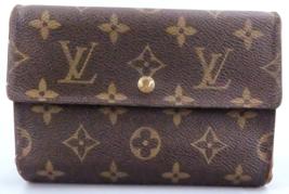LOUIS VUITTON Monogram Porte Tresor Etui Papier Tri-fold Wallet M61202 F... - $60.00