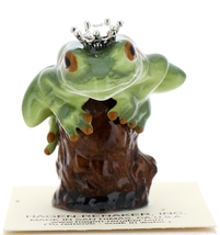 Hagen-Renaker Miniature Tree Frog Figurine Birthstone Prince 04 April Diamond - $15.96