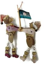 Dancing Lion and Bear Ornament 6 inches - $17.33