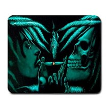 Mouse Pad Bob Marley Smoking Weed Marijuana Skull Horror Scary Animation... - $172,10 MXN