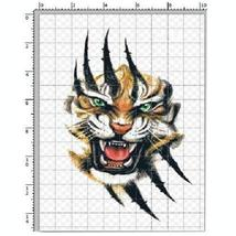 Set of 3 Wild Tiger Scratch Pattern Body Tattoo Stickers Temporary Tattoos