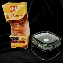 GLADE Scented Oil Candles Glass Holder and 3 Refill Pack of Spiced Rose ... - $13.88