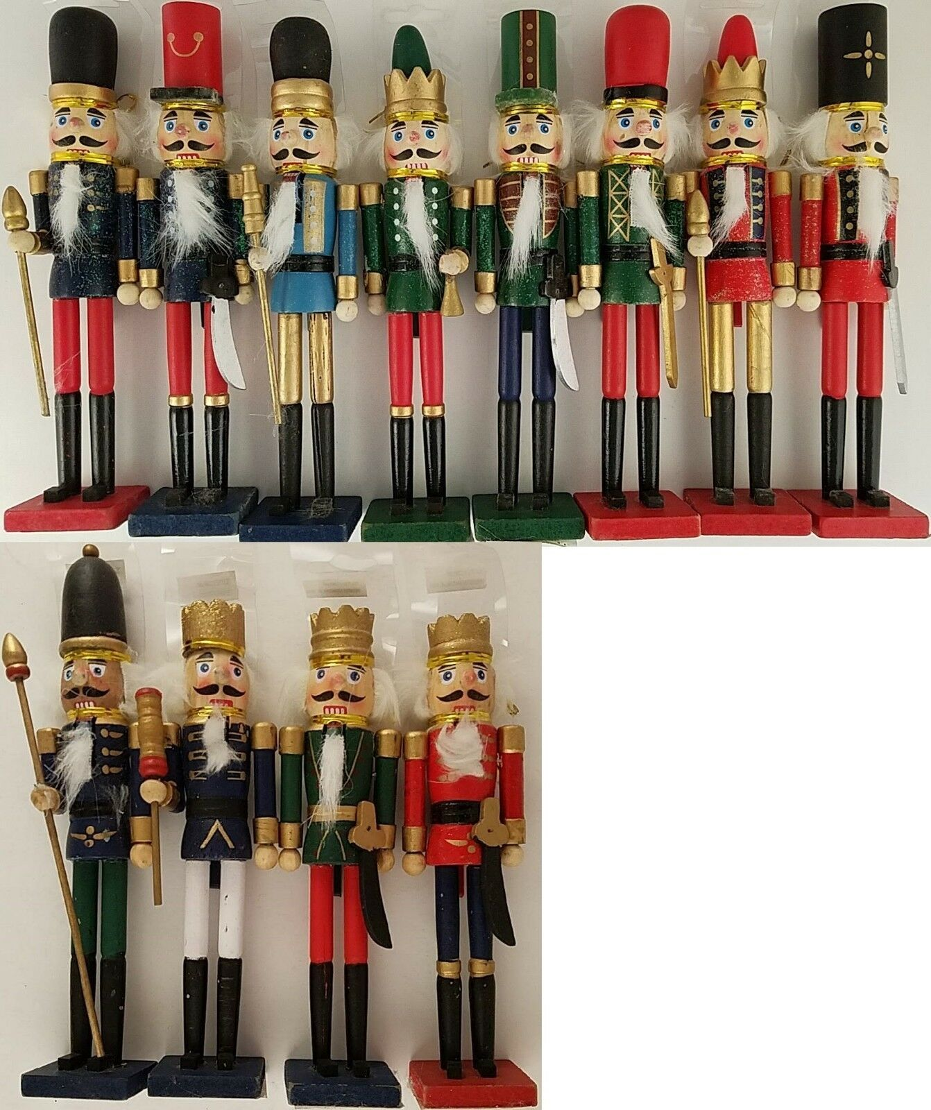 "Christmas Nutcracker Soldiers Wooden Decorations 9"", Select Colors - $4.99"