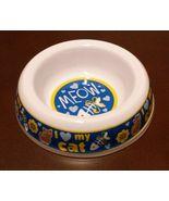"Cat Food Bowl Plastic 5.5"" Love My Cat Meow NEW - $7.99"