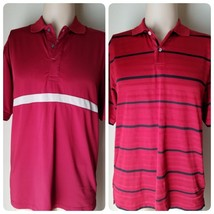 IZOD Cool FX Men's Shirt Red Polo Golf 2 Striped & Solid Athletic Short ... - $13.21