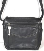 Fossil Vintage Black Leather Multi Pocket Shoulder Bag - $32.00