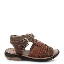 Boy's Rilo Leather Baby Brown open toe Sandal - $23.19+