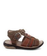 Boy's Rilo Leather Baby Brown open toe Sandal - $28.99