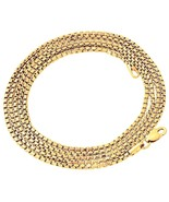"Hip Hop 14K Gold GP Venetian Round Box Chain Necklace 3mm 30"" Lobster clasp - $7.69"
