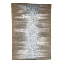 "8'1""x11'7"" THE BLUE SUNBURST Silk with Textured Wool HandKnotted Rug G40590 - $2,961.00"