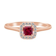 1.55 Ct Ruby 18k Rose Gold Over 925 Wedding Engagement Ring - $79.99