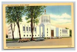 Vintage Curteich Linen Postcard State Capitol Salem Oregon UNPOSTED - $14.82