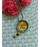Cutie Pie Bottle Cap Necklace - $3.60