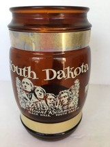 "Souvenir Mug Mount Rushmore So. Dak. Badlands Wall Drug Brown 5"" x 2 1/2... - $9.89"