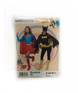 Simplicity S0223 Misses Dc Comics Supergirl Bat Girl Costume Sewing Pattern - $14.84