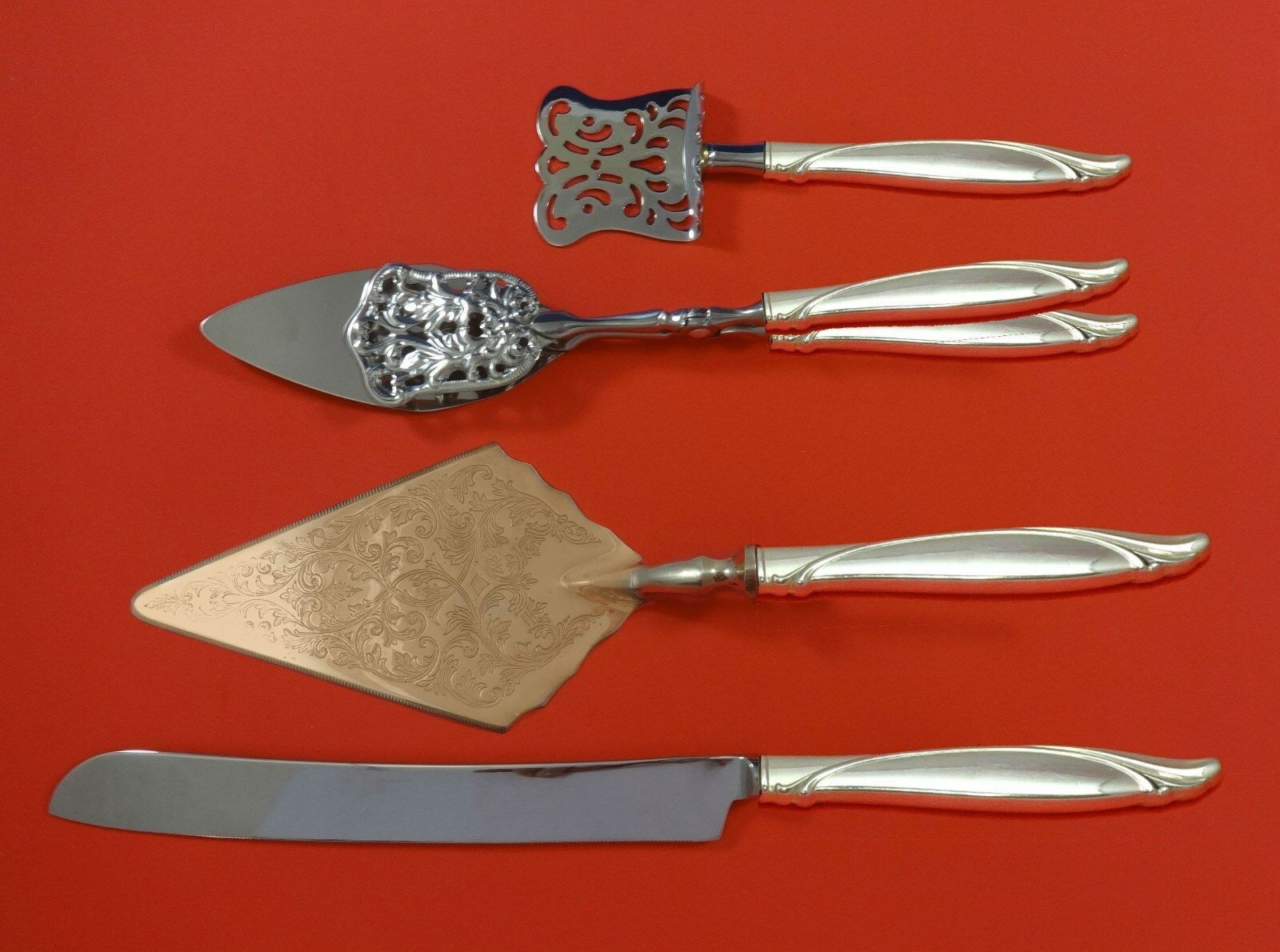 Primary image for Sentimental by Oneida Sterling Silver Dessert Serving Set 4pc Custom Made