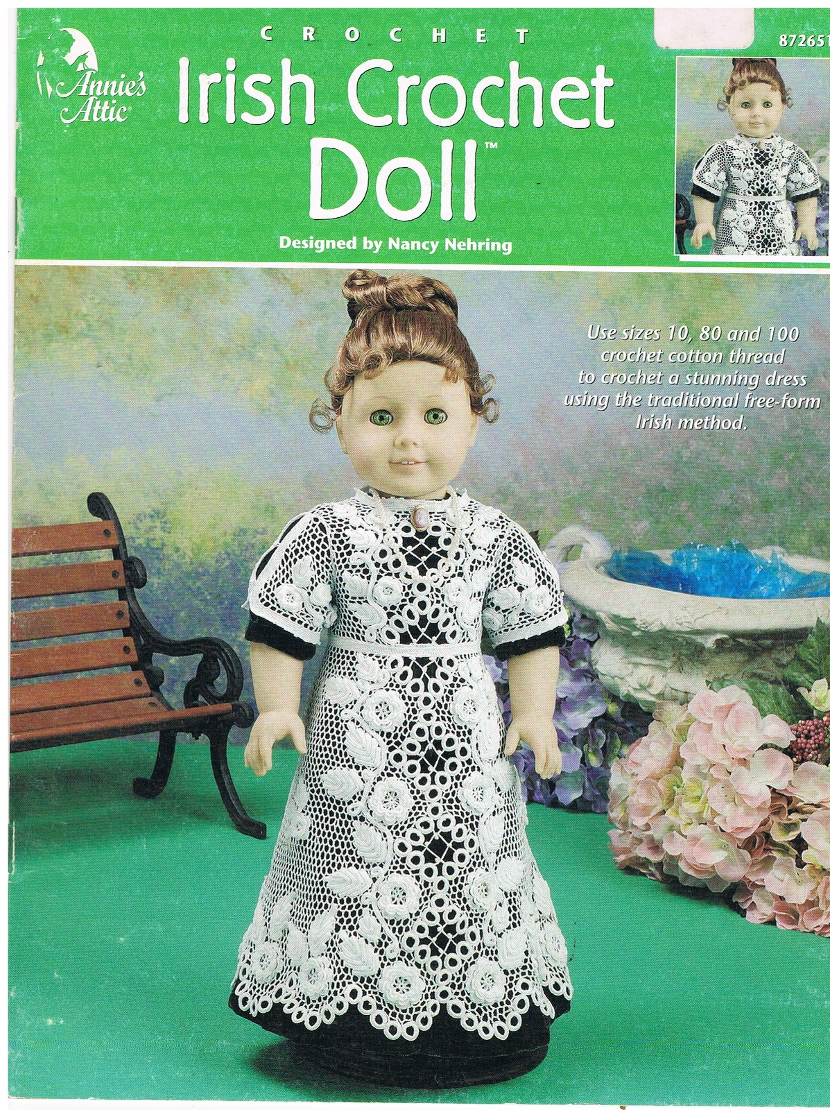 Irish Crochet Doll Dress Pattern from Annies and 50 similar items