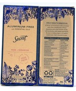 2 Secret 2.6 Oz Aluminum Free Essential OilsRose and Geranium 24 Hr Deod... - $25.99