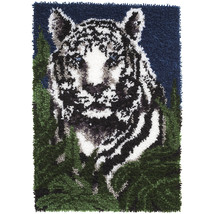 "Caron Wonderart Latch Hook Kit 24""X34""-White Tiger - $49.49"
