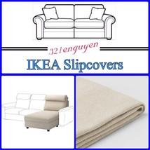 IKEA LIDHULT Slipcover Cover for Chaise section Gassebol light beige 604.058.56 - $125.00