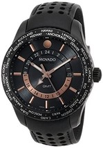 Movado Men's 2600118 Series 800 Black PVD Case with Black Leather Band - $1,652.43