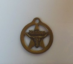 Vintage Marlboro Brass Pendant Marked M on Back - $14.95