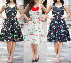 Women's Sexy Short Sleeveless Casual Dress Floral Print Dress with Sweet... - $36.98