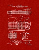 Pick-up And Circuit For Stringed Musical Instrument Patent Print - Burgu... - $7.95+