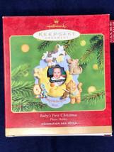 2001 Baby's 1st Christmas Hallmark Keepsake Ornament Photo Holder - $33.62